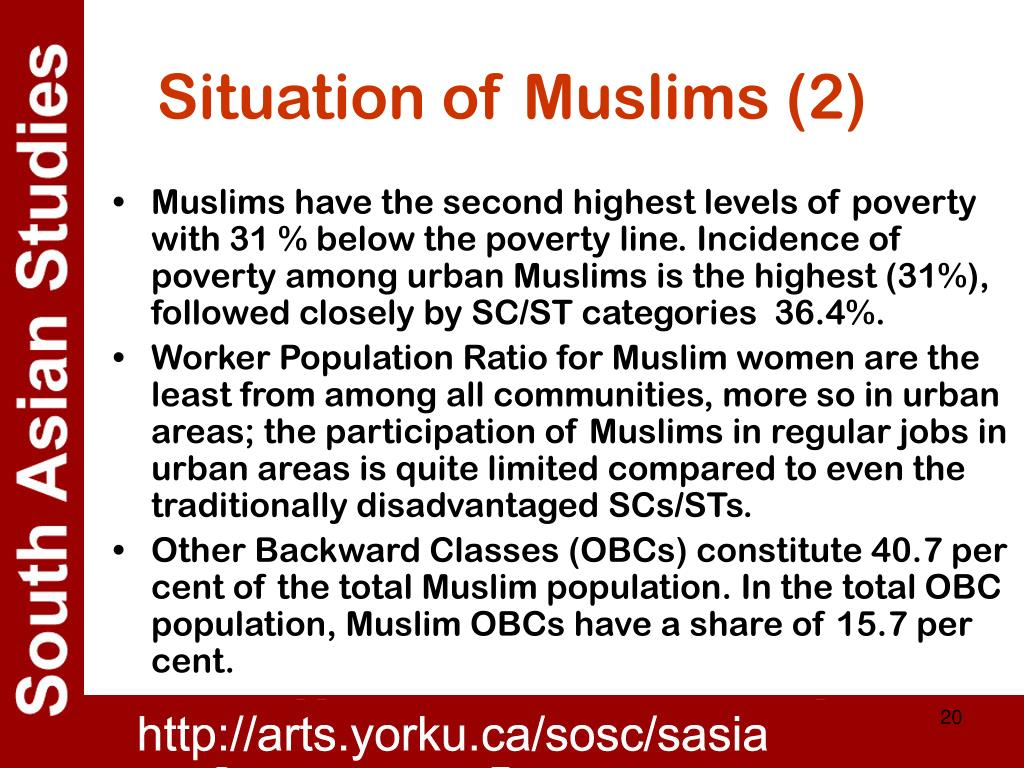 Situation of Muslims (2)