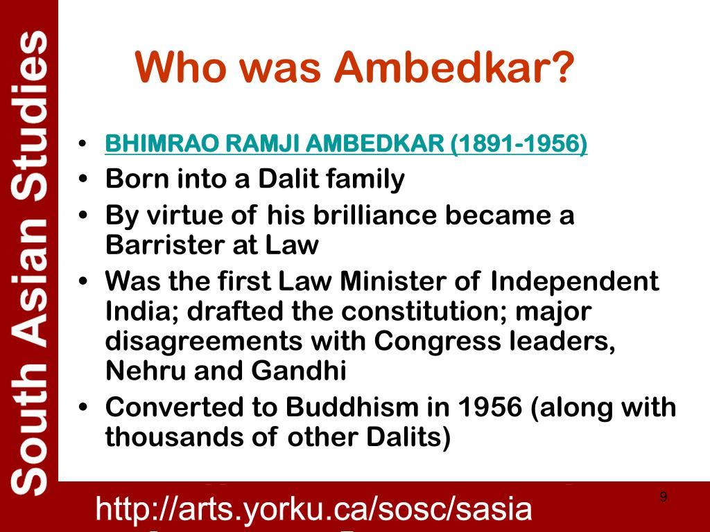 Who was Ambedkar?