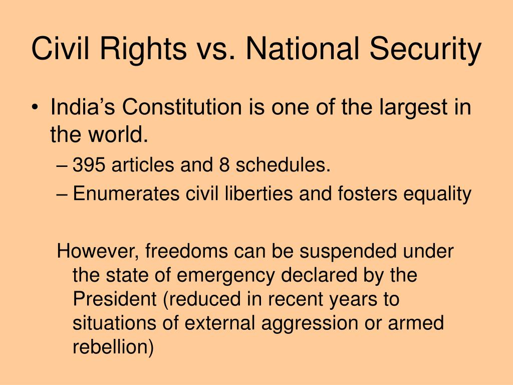 Civil Rights vs. National Security