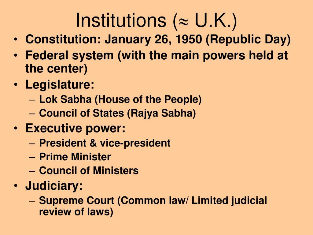 Institutions (