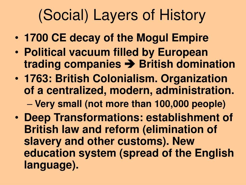 (Social) Layers of History