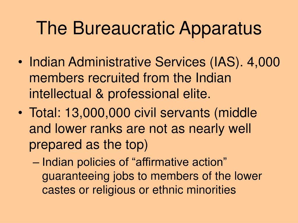 The Bureaucratic Apparatus