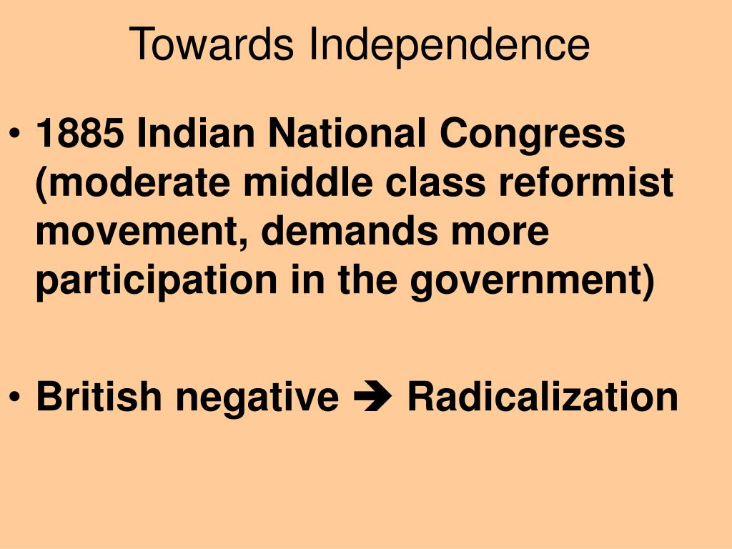 Towards Independence