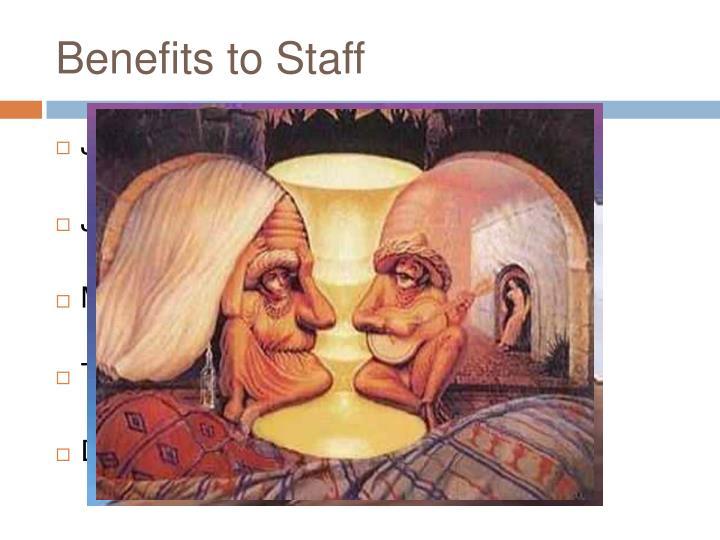 Benefits to Staff
