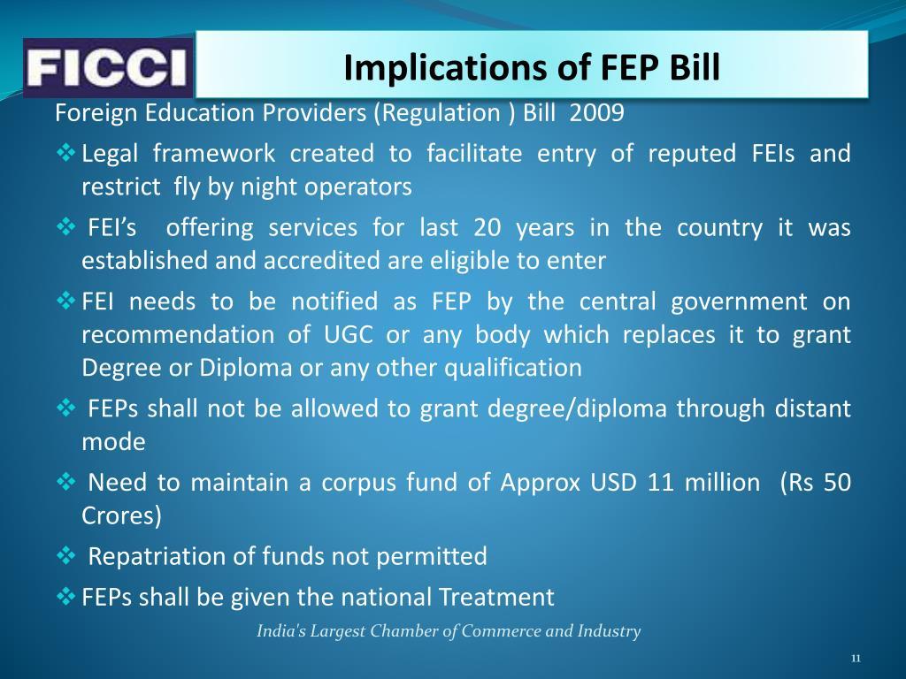Implications of FEP Bill