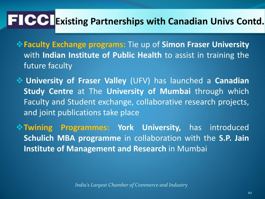 Existing Partnerships with Canadian
