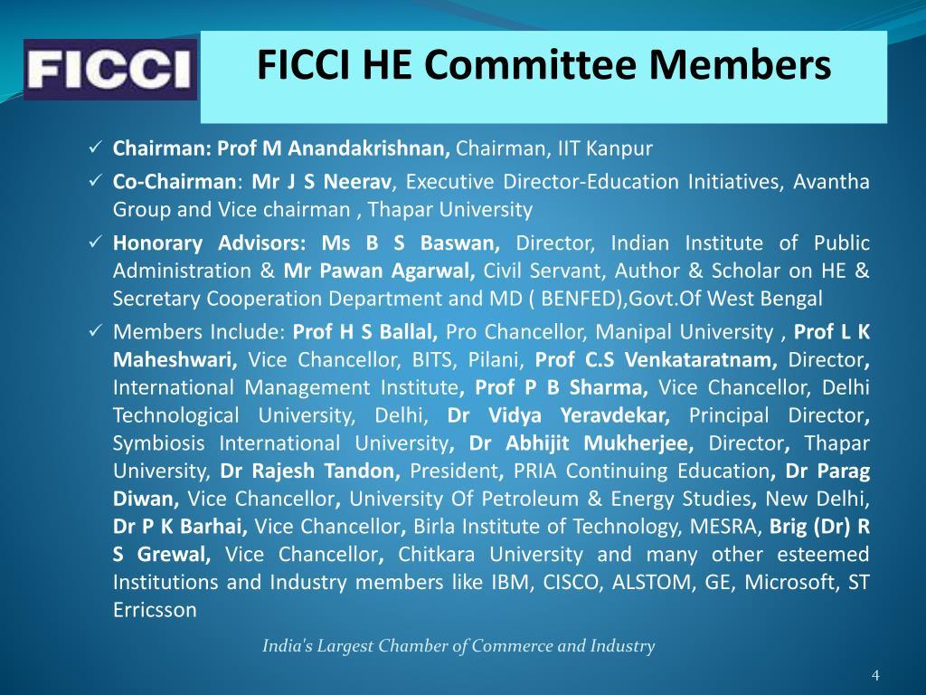 FICCI HE Committee Members