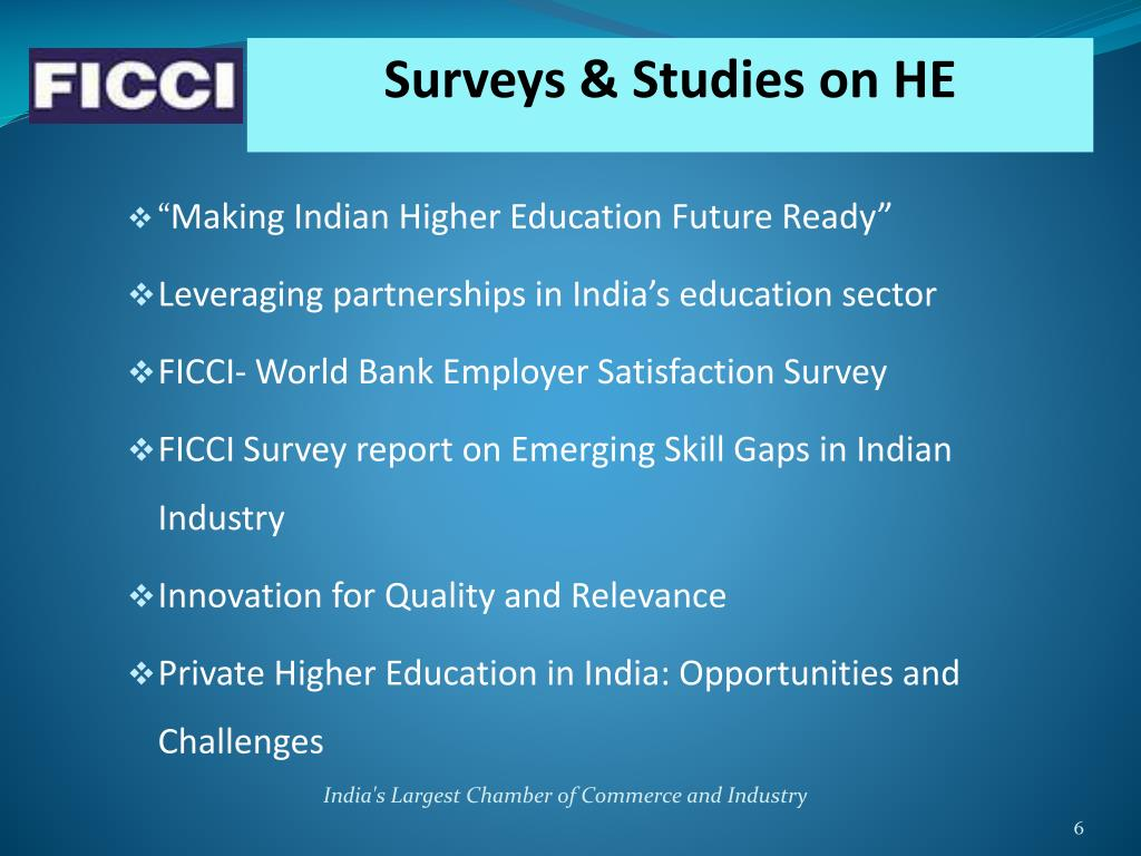 Surveys & Studies on HE