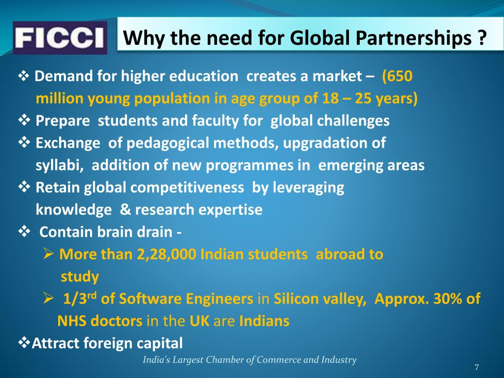 Why the need for Global Partnerships ?