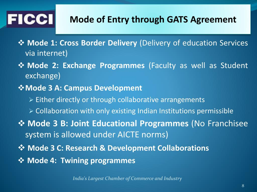 Mode of Entry through GATS Agreement