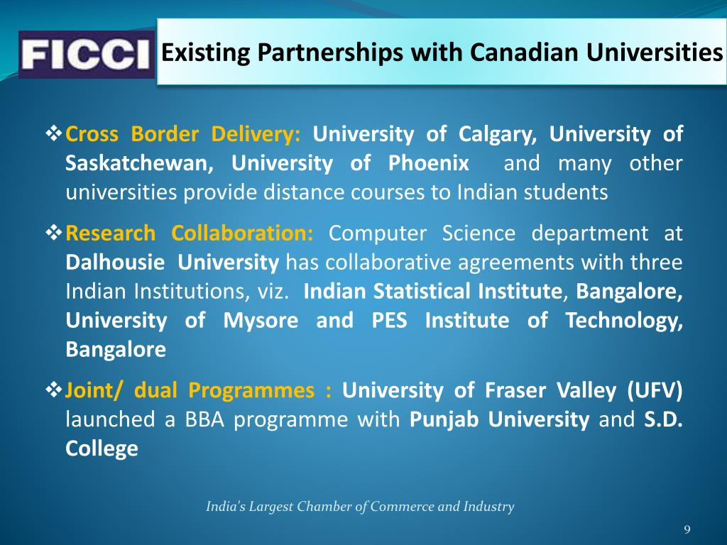 Existing Partnerships with Canadian Universities