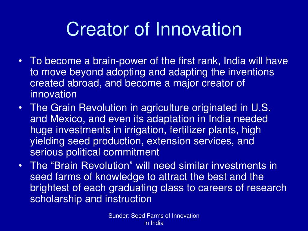 Creator of Innovation