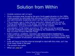 solution from within