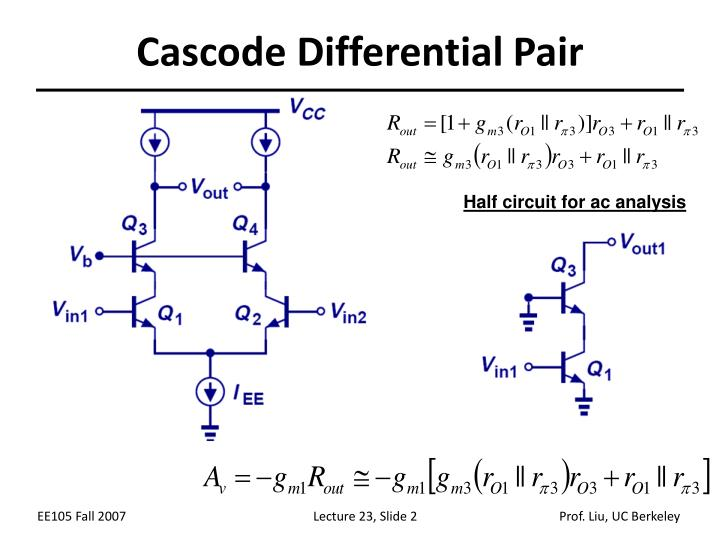 Cascode differential pair