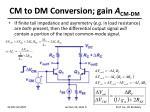cm to dm conversion gain a cm dm