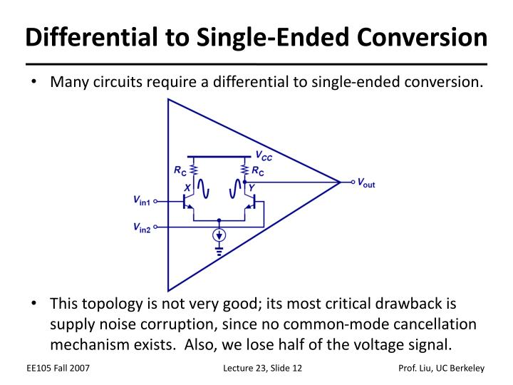 Differential to Single-Ended Conversion