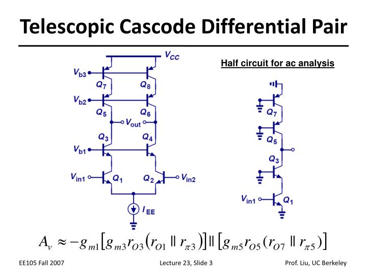 Telescopic cascode differential pair
