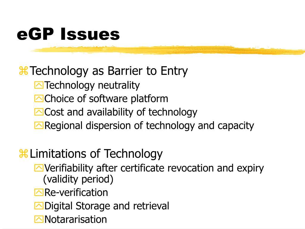 eGP Issues