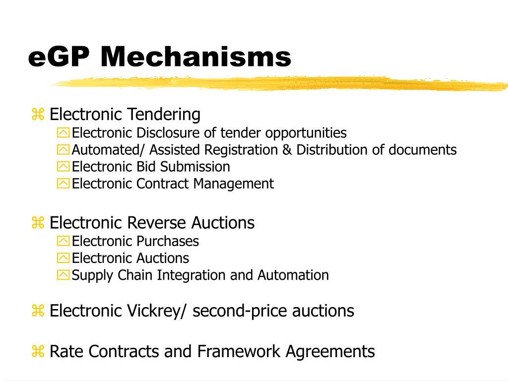 eGP Mechanisms