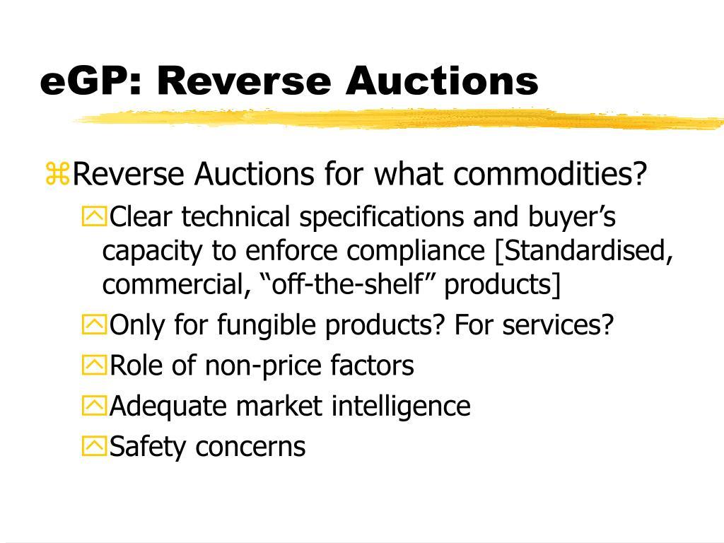 eGP: Reverse Auctions