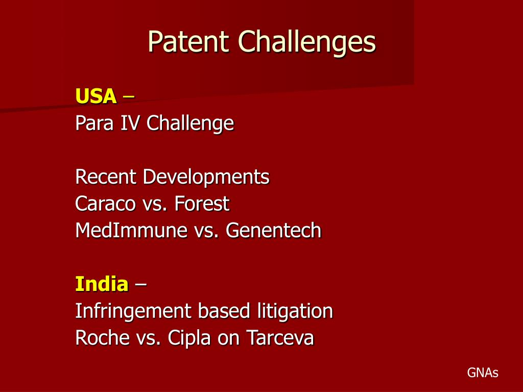 Patent Challenges