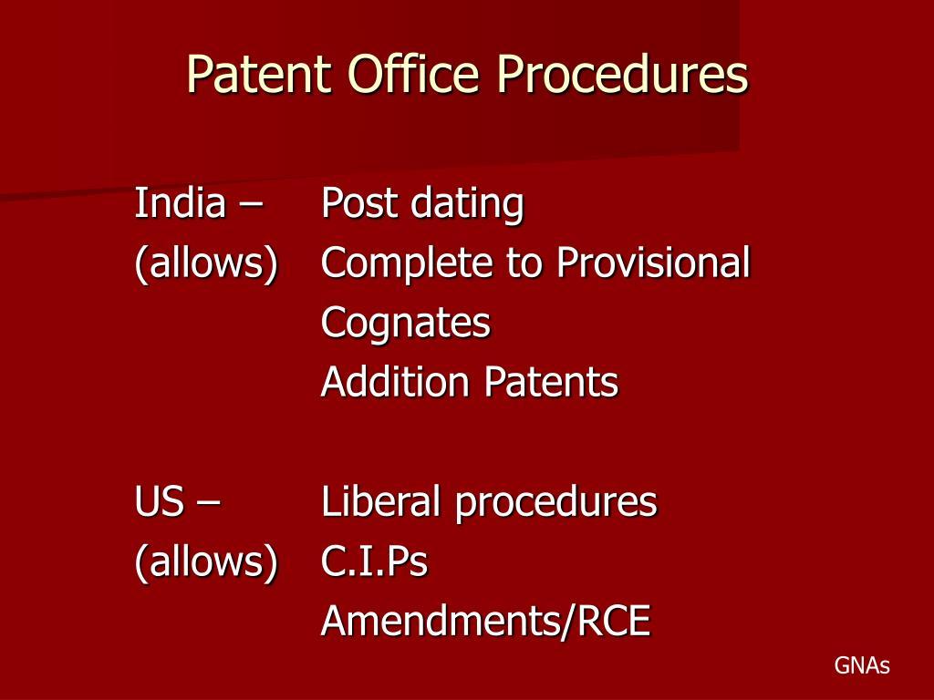 Patent Office Procedures