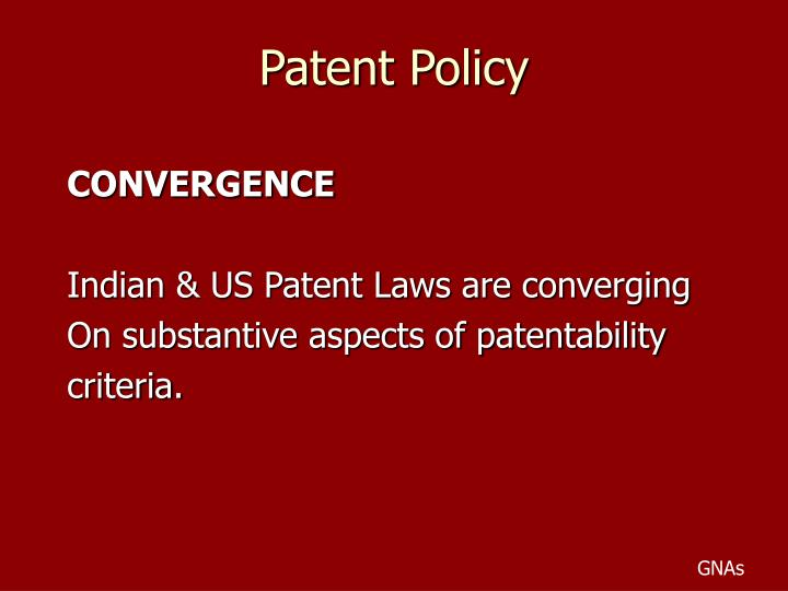 Patent policy