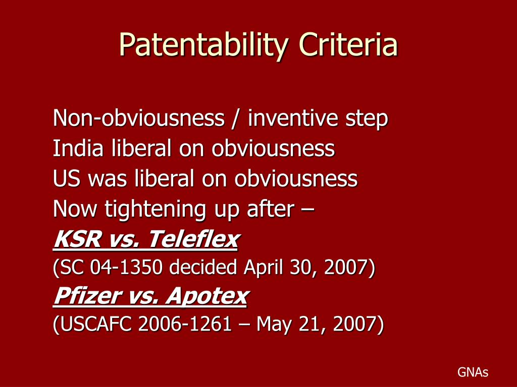 Patentability Criteria