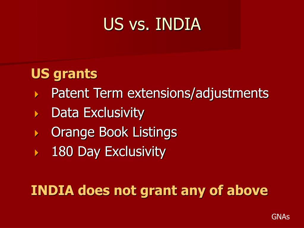 US vs. INDIA
