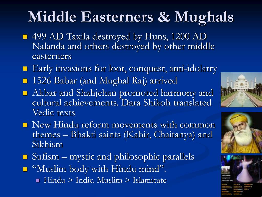 Middle Easterners & Mughals