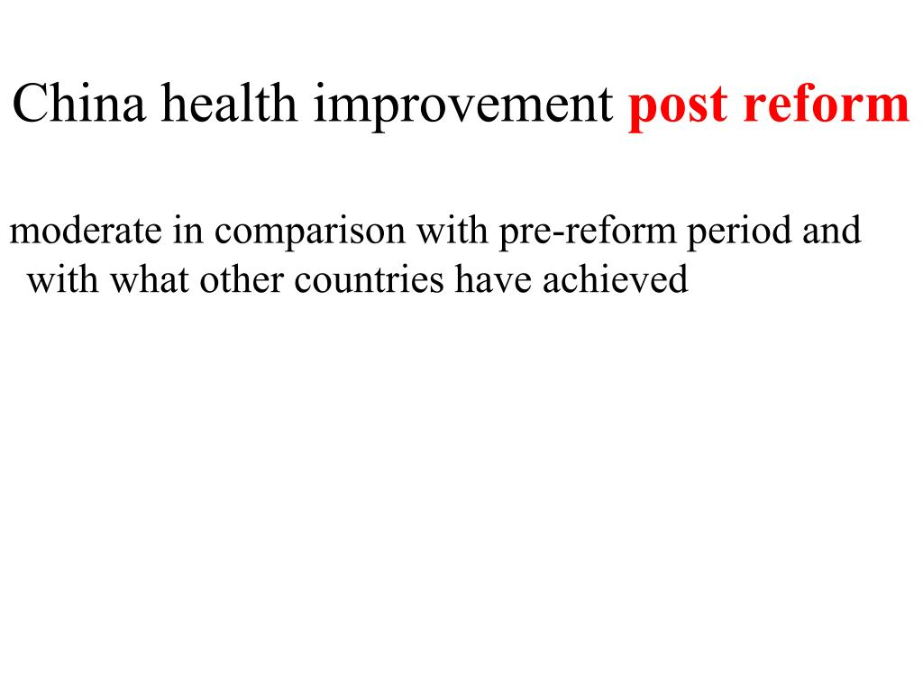 China health improvement