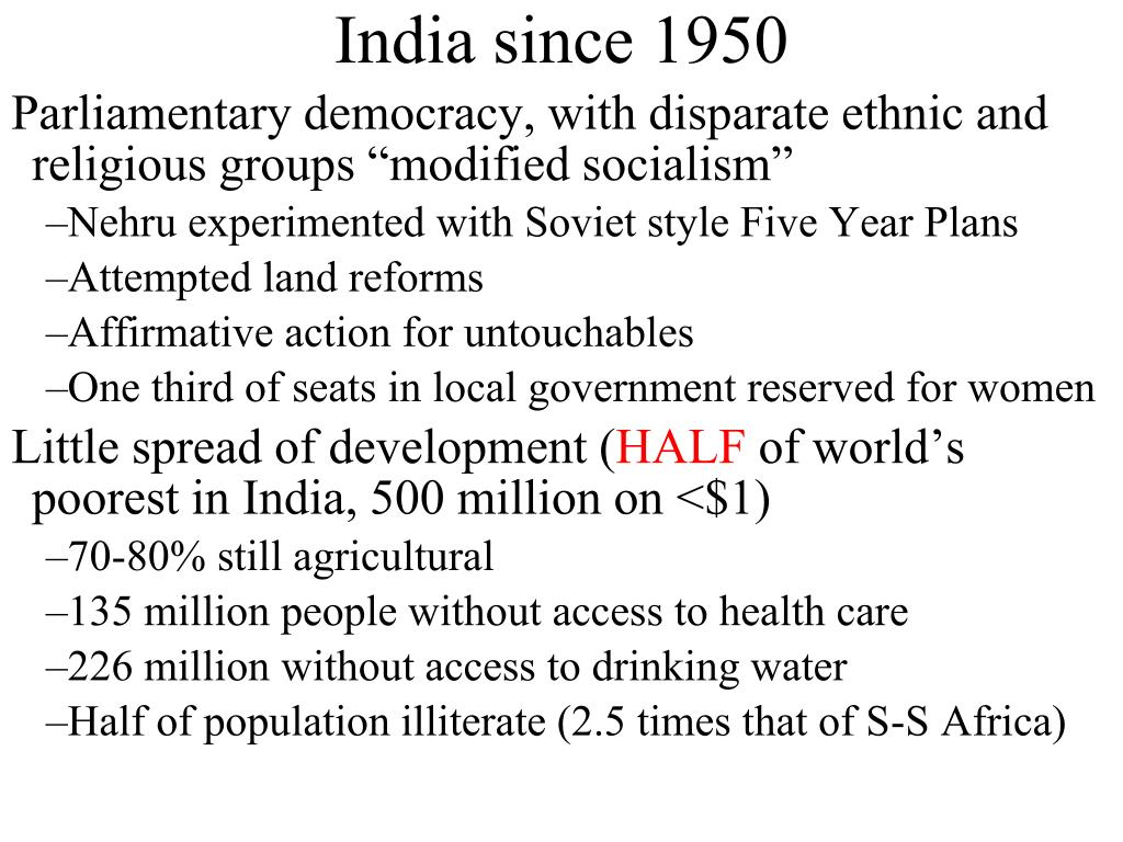 India since 1950