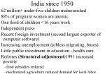 india since 195013