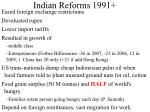 indian reforms 1991
