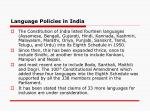 language policies in india