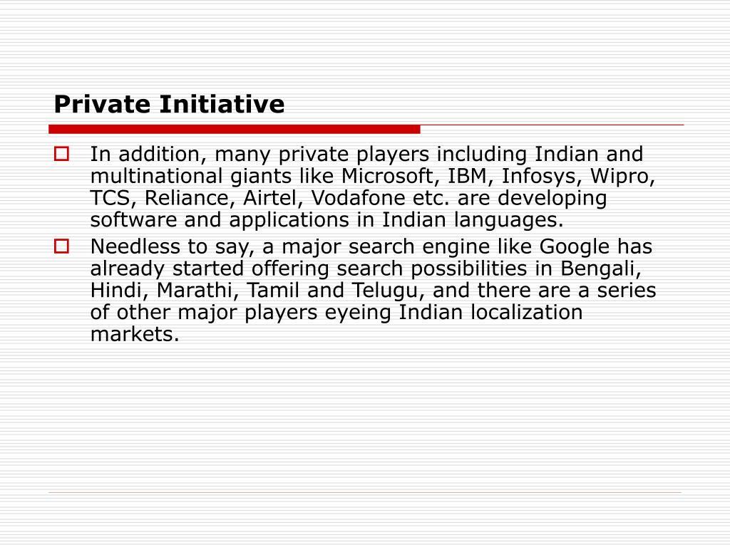 Private Initiative