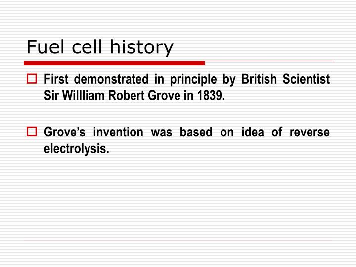 Fuel cell history