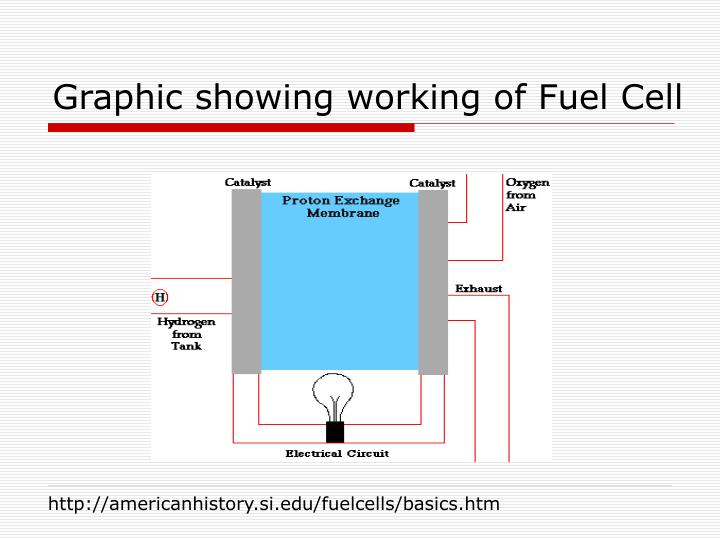 Graphic showing working of Fuel Cell