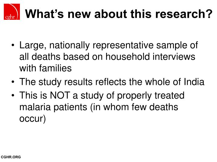 What s new about this research