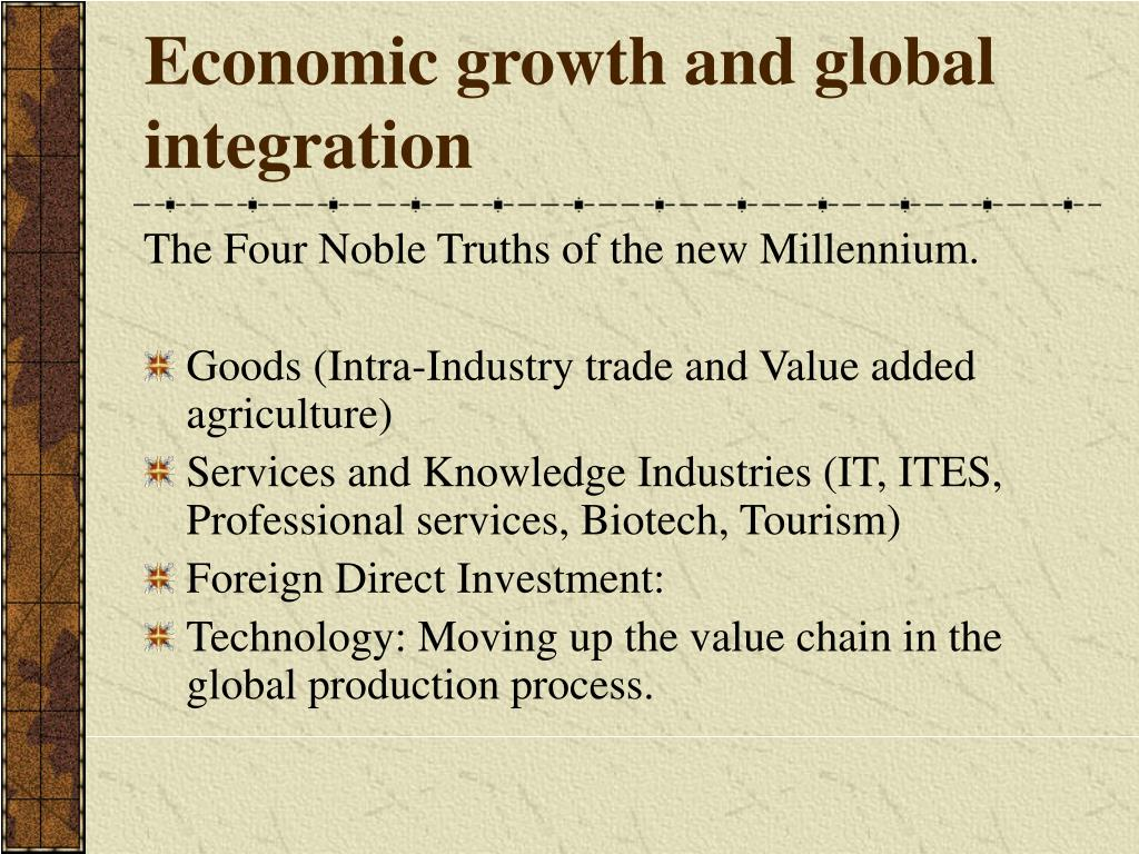 Economic growth and global integration