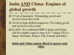 india and china engines of global growth