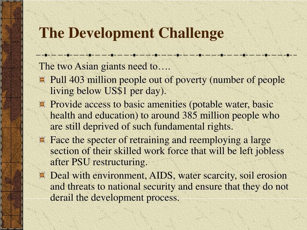 The Development Challenge