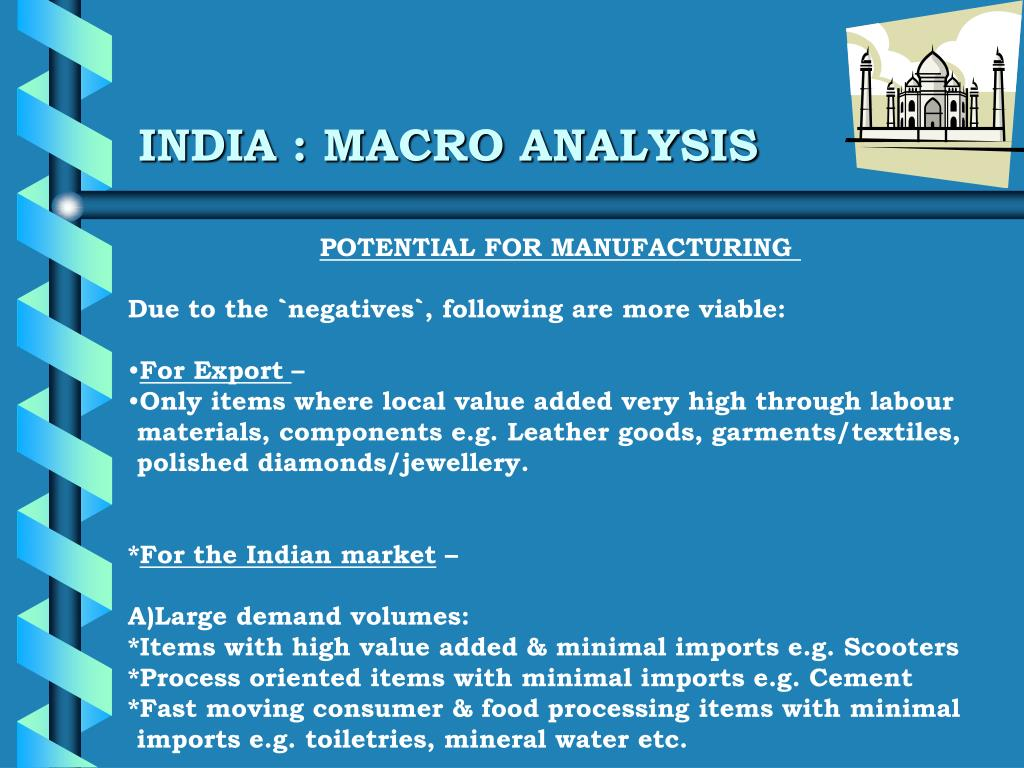 INDIA : MACRO ANALYSIS