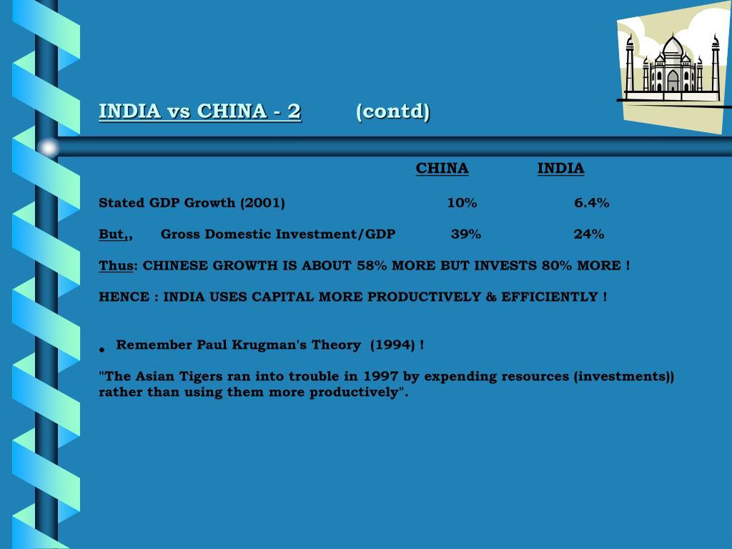 INDIA vs CHINA - 2