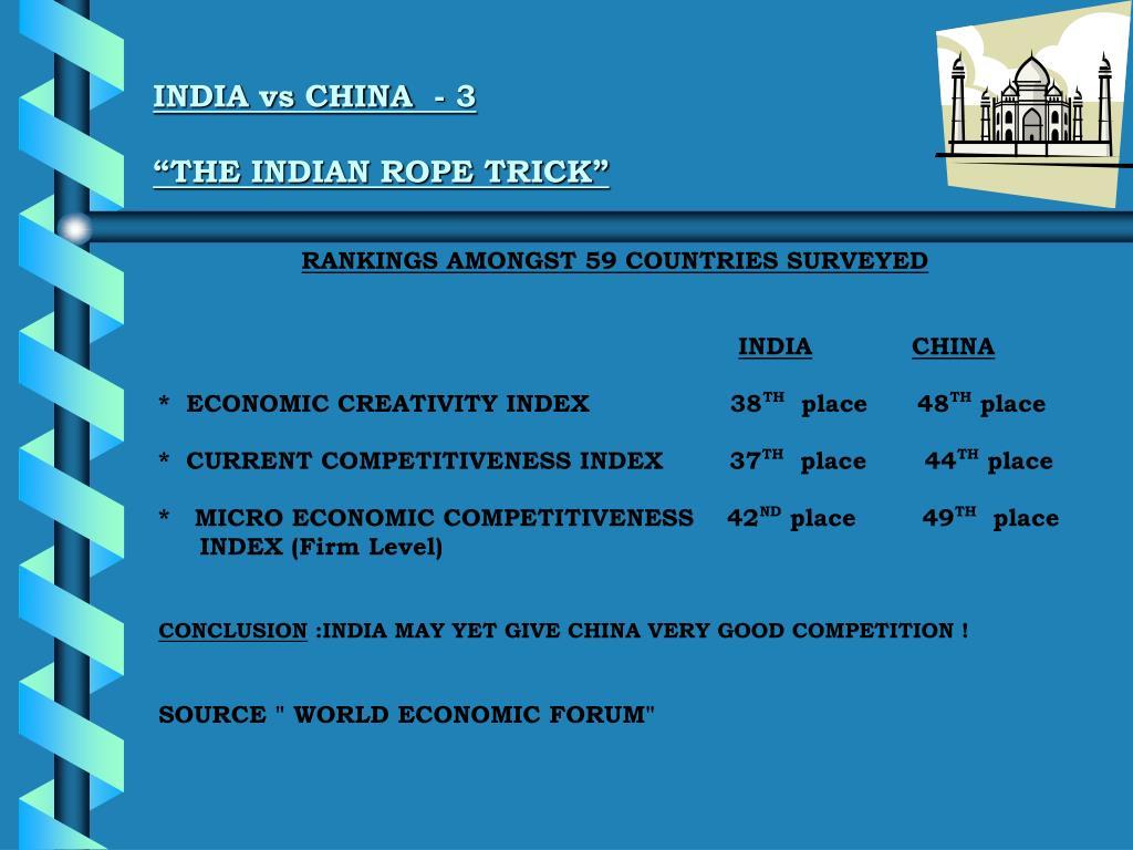 INDIA vs CHINA  - 3