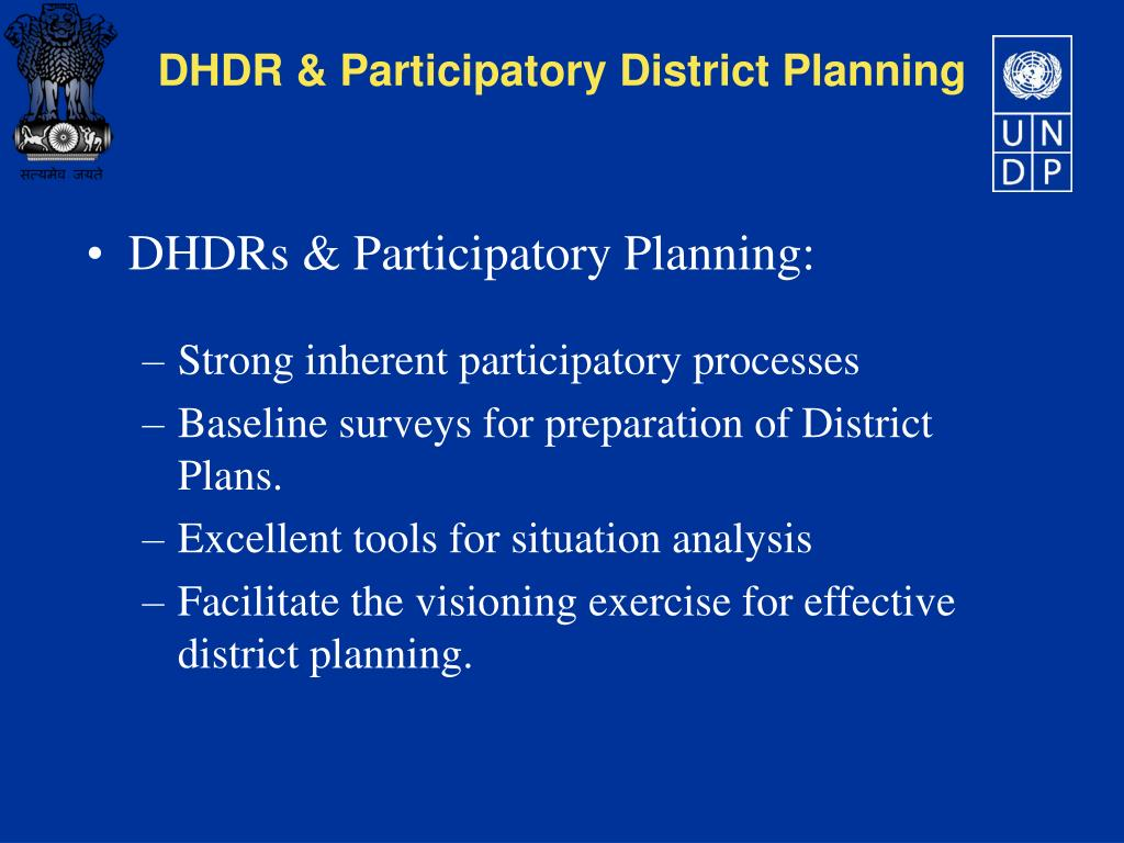 DHDRs & Participatory Planning: