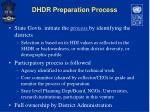 dhdr preparation process