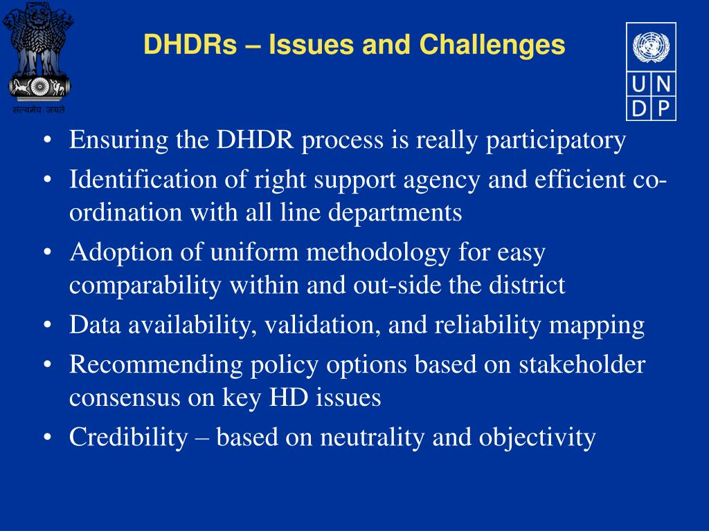 Ensuring the DHDR process is really participatory