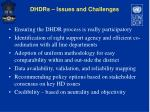 dhdrs issues and challenges