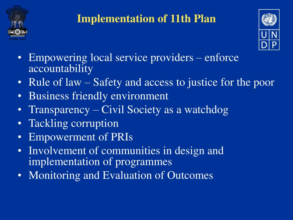 Empowering local service providers – enforce accountability